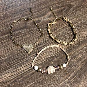 Jewelry - Three gold tone bracelets